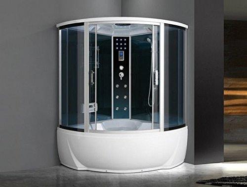 BagnoItalia Cabina idromassaggio 150x150 6 getti con vasca box doccia multifunzione sauna bagno turco I