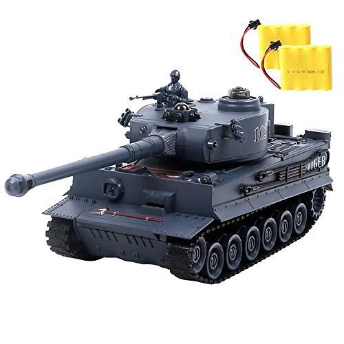Ycco Radio Simulazione Seconda Guerra Mondiale Air Defense telecomando Carri armati di controllo del carro armato RC militare Chariot Panzer con il suono di rotazione torretta e Recoil azione, sparare