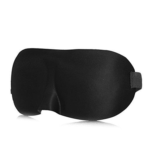 Julyshop Weich Satins & Spitze leicht Schlafsack Schlaf Augenmaske Augenbinde Schild für Ausruhen, schwarz