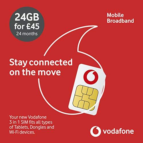 Vodafone Datensim: 24 GB, 730 Tage.