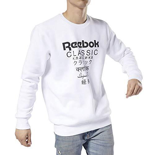 Reebok Classic Sweatshirt Unisex Fleece Weiss (10) M
