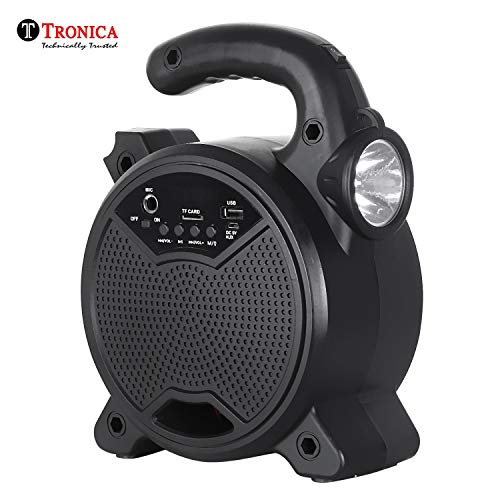Tronica ZQS-5101 Rechargeable Bluetooth Speaker with Emergency Light Together with PenDrive/SD Card/Mic...