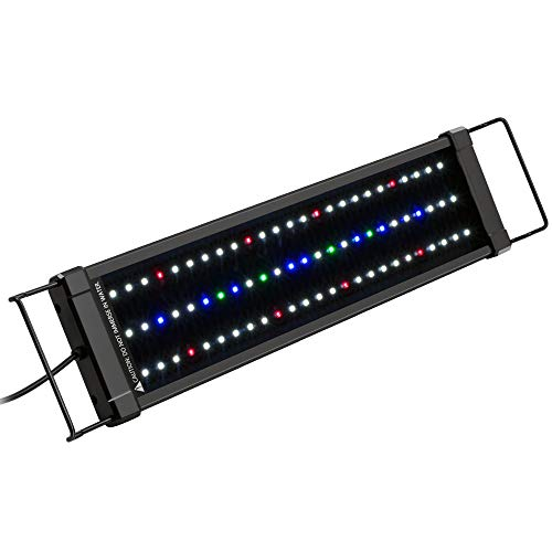 NICREW ClassicLED Plus Planted Aquarium Light, Full Spectrum LED Fish Tank Light for Freshwater Plants, 18 to 24 Inch, 15 Watts