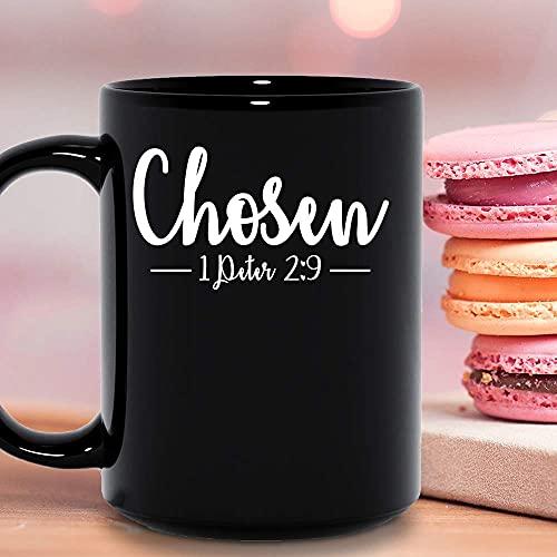 N\A Pero Usted es la Biblia elegida por Dios Christian St Diciendo Cita Taza de cerámica Tazas de café gráficas Tazas Negras Tapas de té Novedad Personalizada 11 oz