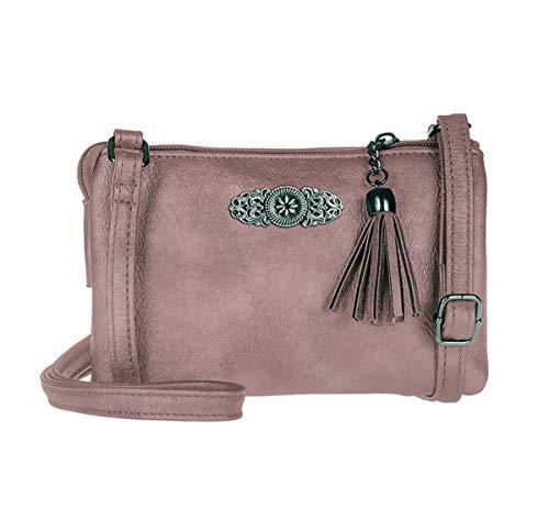 Trachtentasche Dirndltasche kleine Umhängetasche Kunst-Leder lila Beere