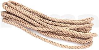 Corde de Jute 10mm x 30m - Corde de Jute épaisse, Corde de Chanvre pour Décoration, Construction, Jardinage