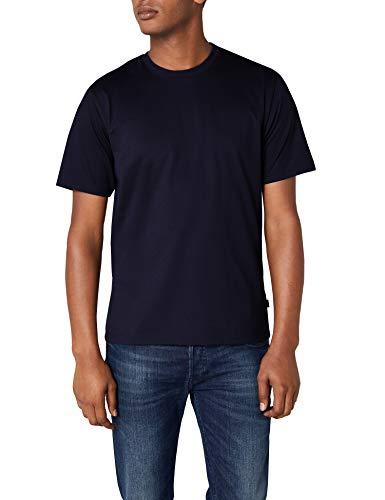 Trigema Herren T-Shirt aus Baumwolle 637202, Navy, XXXL