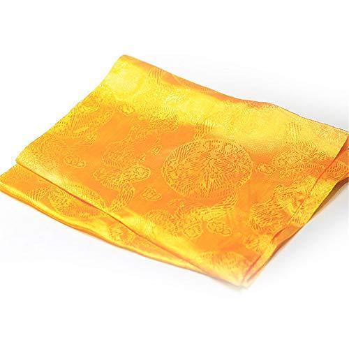 FFDGHB FüNf-Farben-Drachen Und PhöNix Jacquard Hada Tibetischen Schmuck Nepal Handgefertigte Handwerk Hochwertige Seide Tuch Buddhistischen Lieferungen 170 * 33Cm