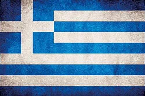 Generisch Cartel de chapa de Grecia, 20 x 30 cm