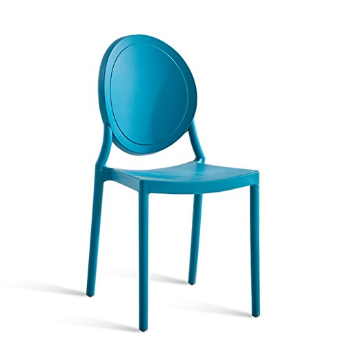 CJH rugleuning boogstoel famillle eetkamer kruk volwassenen Noord-Europa vrije tijd creatieve Amerikaanse kruk antiek dik kunststof stoel blauw grijs rood geel