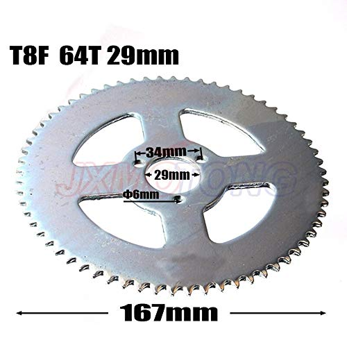 T8F 64T Tand 29mm Achterwiel Voor 47cc 49cc Pocket Bike Mini Motor Quad ATV Mini Pit Dirt Motard Bike