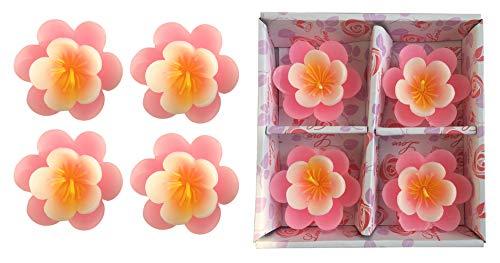 T-shin Schwimmkerzen, Klassische Duftlose Lotusblüten-Blumenkerze, handgegossene Wachskerzen für Hochzeiten, Jubiläen, Geburtstage, Heimdekoration, Spa, Entspannung Rose