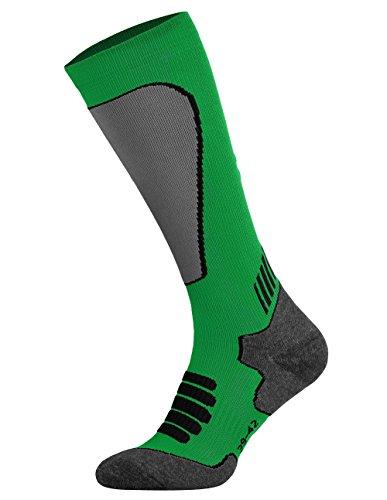 Tobeni Sport Compression Calzini Biking- Corsa- Sci Calze per Donna e Uomo Colore Verde Taglia 43-46