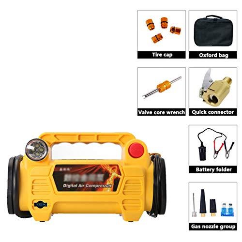 GSS-Table Luchtcompressor, draagbare, beweegbare automatische elektrische luchtpomp, autobandeninflator met automatische uitschakeling, voor- en led-waarschuwingslamp