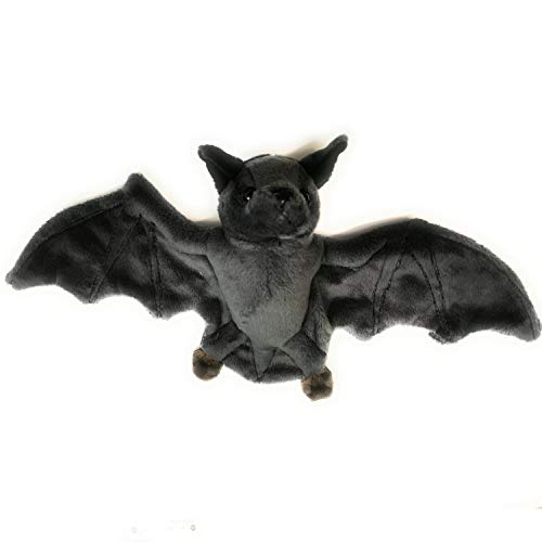 Beppe dunkle Fliegende Fledermaus zum kuscheln Plüschmaus Geschenk Tier Geburtstagsgeschenke Kinderbett Plüschtier Stofftier Spielwaren Geschenkidee Dark bat Mouse Kuscheltier 30 cm