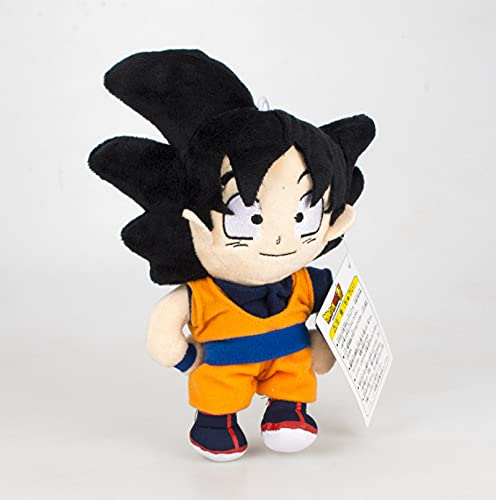 Anime Dragon Ball Personaje clásico Goku Juguete de Felpa 18Cm, Figura de acción Figura Goku muñeco de Peluche Suave niños