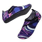 Deevike Chaussures Aquatiques Homme Femme Chaussures d'eau Chaussons de Plage Sport Aquatique Séchage Rapide Chaussette Coloré Violet 38/39