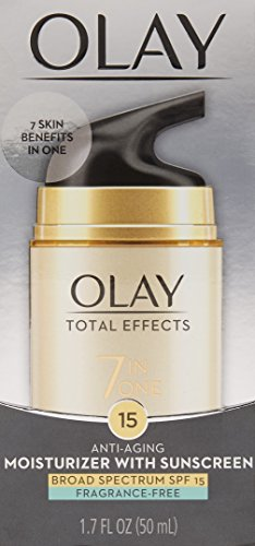 41csxy5PsuL - OLAY Total Effects 7-in-1 Anti-Aging Face Moisturizer with SPF 15, Fragrance-Free 1.7 oz