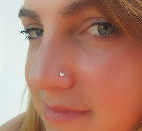 Amazon Com Silver Nose Stud Sterling Silver Nose Piercing Tiny