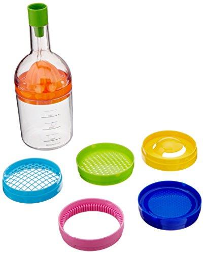 E-joy utensilios de cocina 8en 1herramienta con embudo, exprimidor, molinillo de especias Grinder, 2separadores huevo, queso, abridor de botellas y una taza de medir