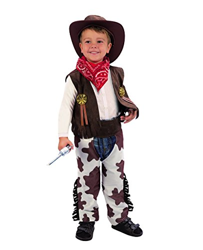 Ciao 14775 Petit Cow Boy, 3 – 4 ans, Marron/blanc