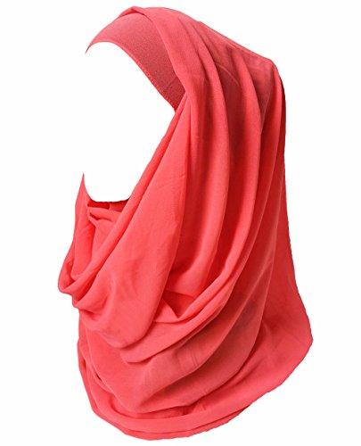 Lina & Lily Lina & Lily Damen Muslim Hijab Kopftuch Schal (Koralle)
