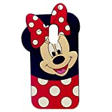 Case for LG Stylo 4, LG Stylo 4 Plus,Q Stylus Case, Minnie 3D Cartoon Animal Slim Silicone Protective Cover Shockproof Case, Kids Girls Gifts Cases, Protector Skin Stylo 4 Plus/Q Stylus/Stylus 4 Plus