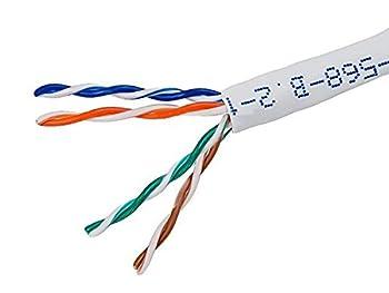 bulk 1000 FEET SOLID COPPER WHITE CAT5e ETL UL LISTED 350Mhz PROFESSIONAL GRADE COMMERCIAL NETWORK CABLE BULK PULL BOX