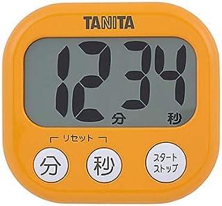 タニタ キッチン タイマー マグネット付き 大画面 100分 オレンジ TD-384 OR でか見えタイマー
