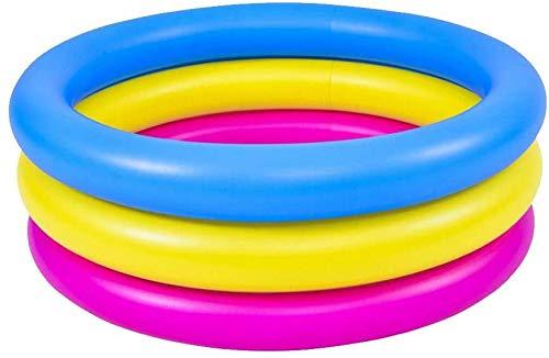 Piscina inflable, piscina para niños, piscina hinchable de tres anillas, piscina para niños, espesada, resistente al desgaste, de PVC, para niños, niñas al aire libre se divierten