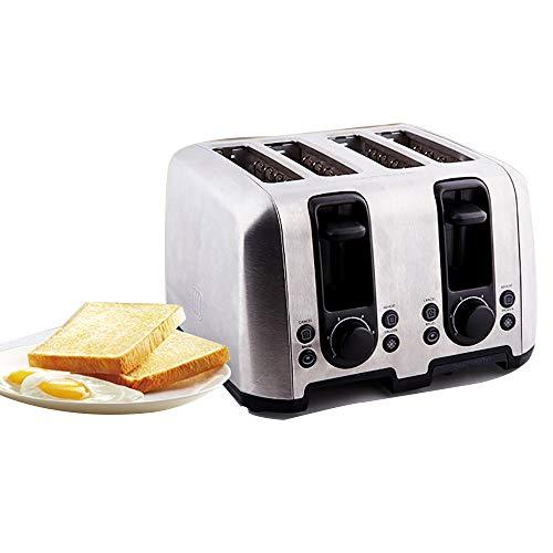 Tostadora Sandwichera 1600 (W), Tostadora 4 Rebanadas Smeg, Control De Temperatura De 6 Velocidades, Chasis De Migas De Pan Movible, 28.5 * 26 * 18.3CM,White