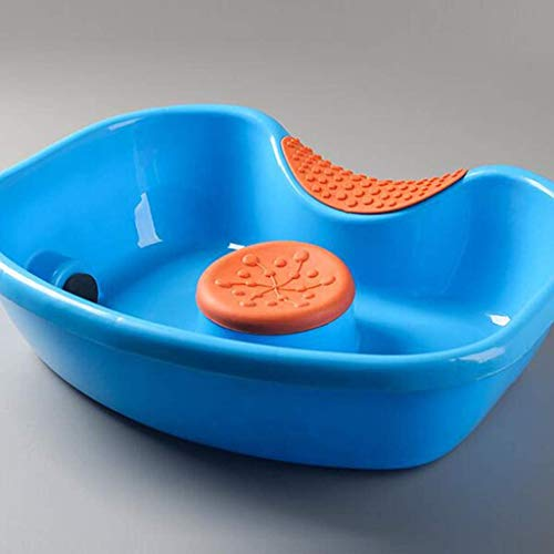 HSART Lavabo À Shampooing Mobile en Plastique Plateaux de Shampooing Gonflables Médical Facile Bassin de Lavage des Cheveux du Bassin Lit Femme Enceinte/Personnes Handicapées Confortable Pratique
