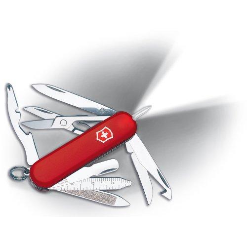 Victorinox Swiss Army Multi-Tool, Midnite MiniChamp Pocket Knife, Red