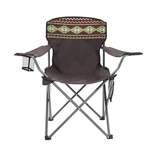 BAR STOOL Chaise de Camping Pliante Simple, Fauteuil portatif extérieur, utilisée pour la Chasse, Chaise de Camping, pêche, Pique-Nique, Barbecue (Brun)