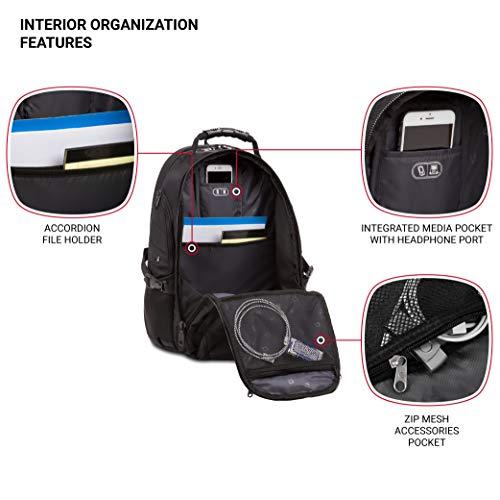 SWISSGEAR Travel Gear 1900 Scansmart TSA Laptop Backpack Black/Black