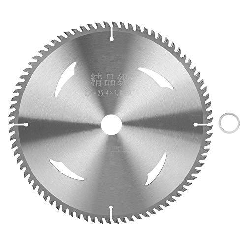 Belissy Carburo de carpintería sierra de mesa hoja de sierra circular amoladora angular de la rueda de corte discos 250x25.4x2.8x80T