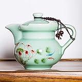 DFBGL Tetera Kungfu de cerámica Pintada a Mano Celadon con Tetera con Filtro