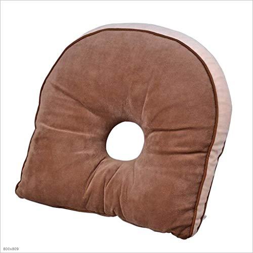 Uus Coussin Doux et Confortable Coussin de Hip beauté Coussin de siège Ergonomique Assise Pad 37 * 37 * 8cm (Couleur : Marron)
