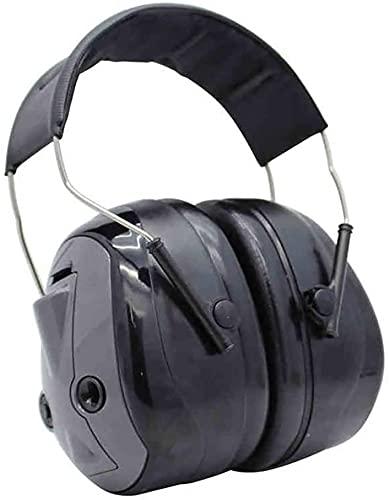 TONG Orejeras profesionales antiruido, orejeras protectoras avanzadas cómodas (color negro, tamaño: talla única)