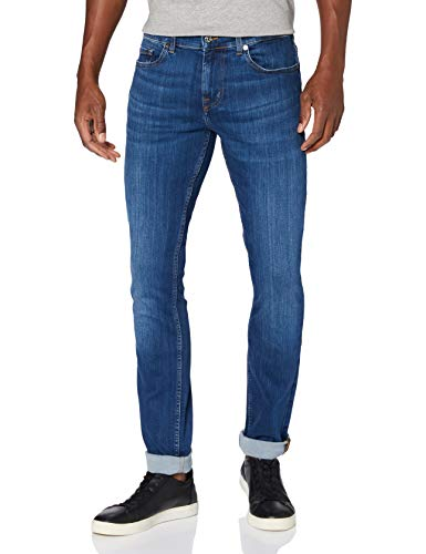 7 For All Mankind Mens Skinny Jeans, Dark Blue, 40