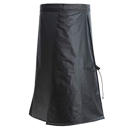 YANYODO Ultra Light Dünner Regenrock Wasserdichter Regen Schurz Packable Windschutz Kilt Rock für Cycling Gartenreinigung Walking Camping Hiking