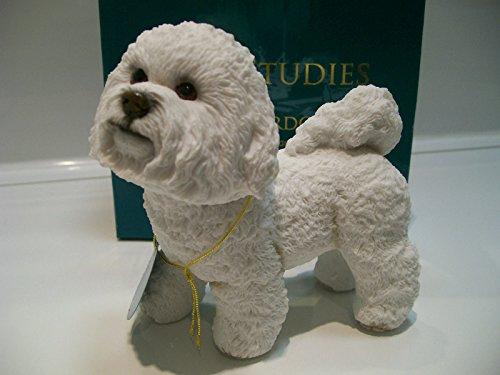 Figura de perro Leonardo Bichon Frise, en caja de regalo, colección Leonardo