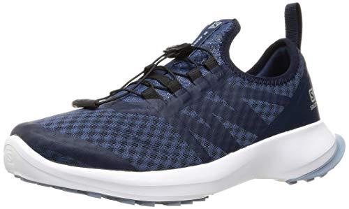 SALOMON Tênis de corrida masculino Sense Flow 2 Trail, Jeans escuro, branco, azul Ashley, 10