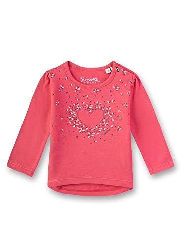 Sanetta Baby-Mädchen T-Shirt, Rot (Strawberry 3458), 62 (Herstellergröße: 062)