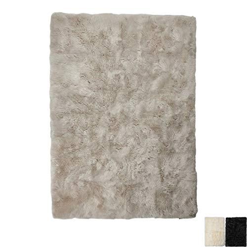Nimara lamsvel tapijt 120 cm x 180 cm | Echt lamsvel tapijt voor de slaapkamer, woonkamer | schapenvacht tapijt woonkamer | lamsvacht van Nieuw-Zeeland