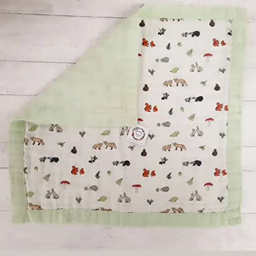 Emma Lawrence Design Muslin Swaddle Blanket Woodland Animals Large 40 x 40...