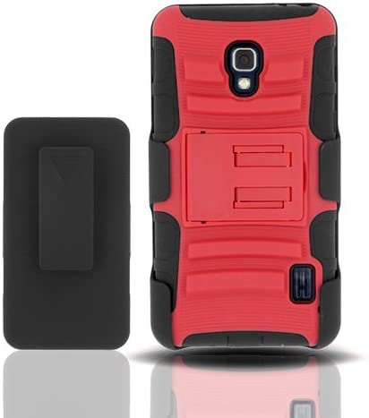 AZ COVER 2 Layer Protector Cover with Kickstand for LG Optimus F6 D500 MS500 T Mobile Metro product image