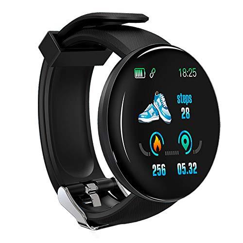 KawKaw DX Smartwatch für Damen Herren und Kinder mit Schlaftracker Kalorienzähler Schrittzähler Pulsuhr Health Watch Activity Tracker mit Touchfunktion Fitness Armband Uhr für iOS & Android (Schwarz)