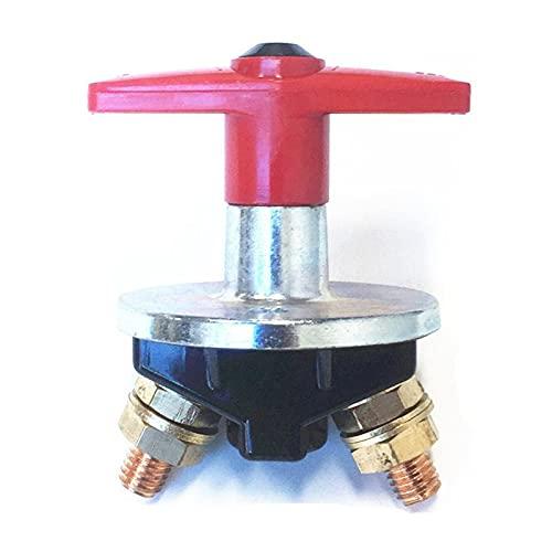 RJJX Desconexión de la batería Cortar el interruptor de matanza 500AMP Interruptor de aislamiento 12-60V Carro de la embarcación Coche de la llave de la manija fija para el automóvil, Marine, Commerci