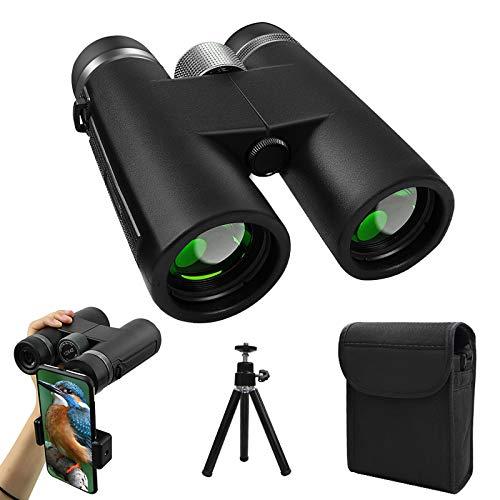 trounistro 12x42 Fernglas, Hochleistungs Vergrößerung Ferngläser mit Smartphone-Adapter und Stativ, Teleskop für Vogelbeobachtung Wanderung Sehenswürdigkeiten Jagd Sport Spiel